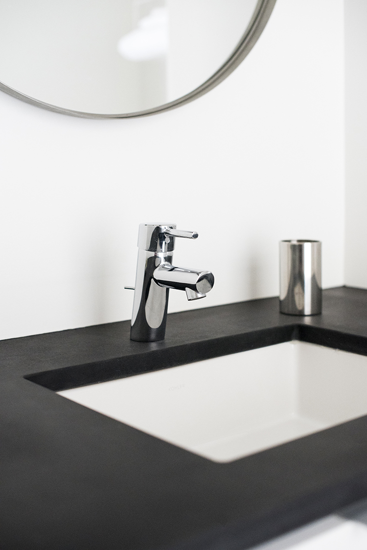 Black Soapstone Sink