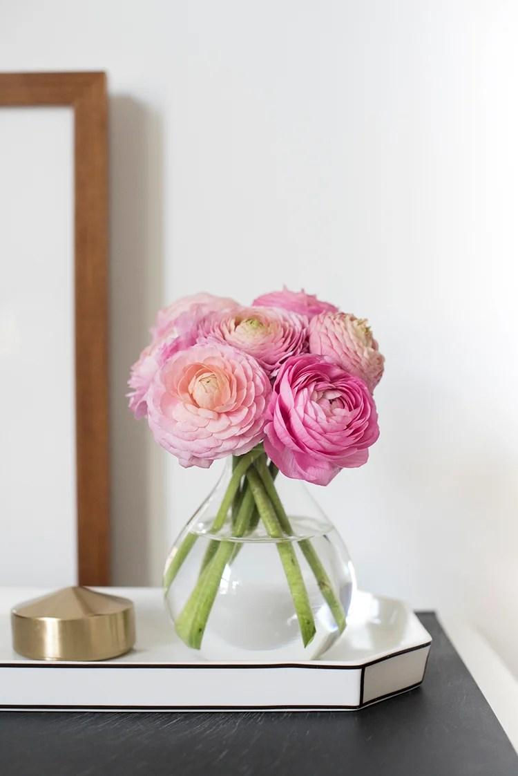 Bud Vase with Ranunculus