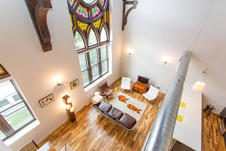 Modern Church Loft in Chicago