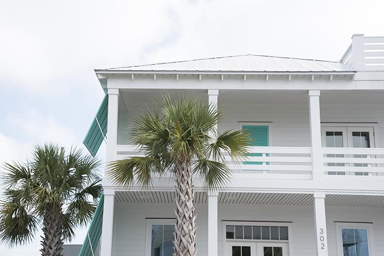 White and Aqua Beach House