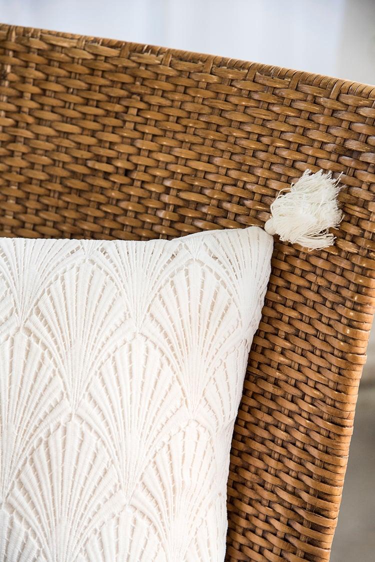 Woven Outdoor Tassel Pillow
