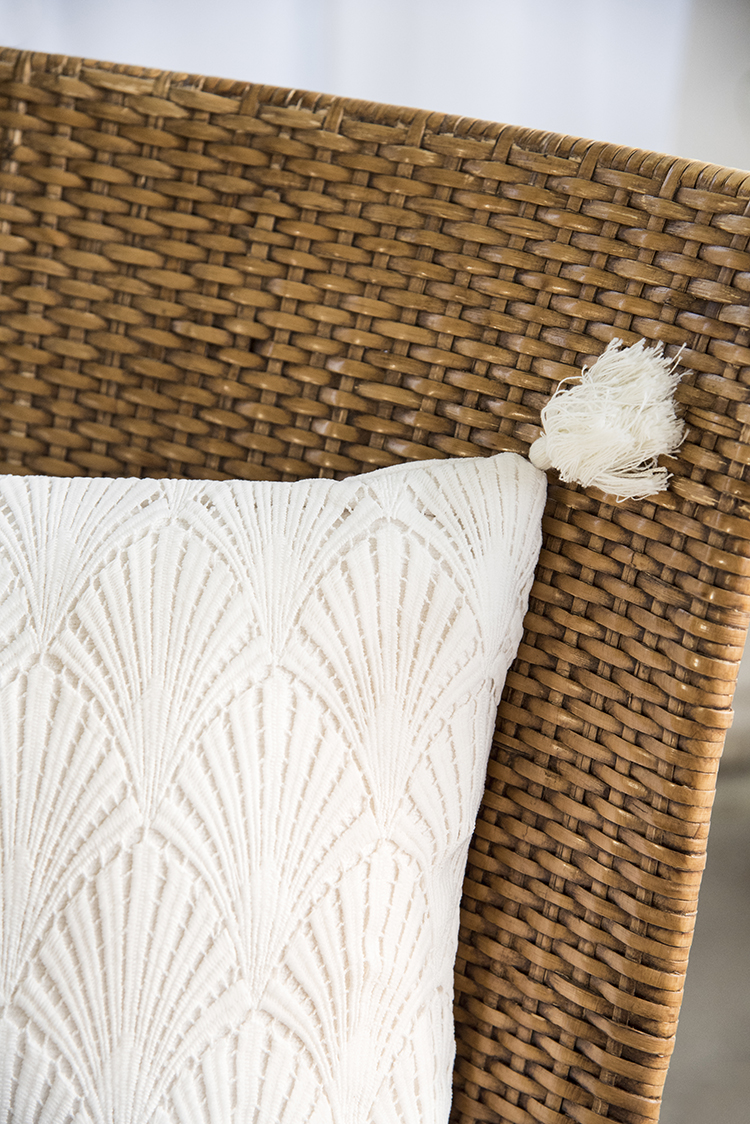 Woven Outdoor Tassel Pillow