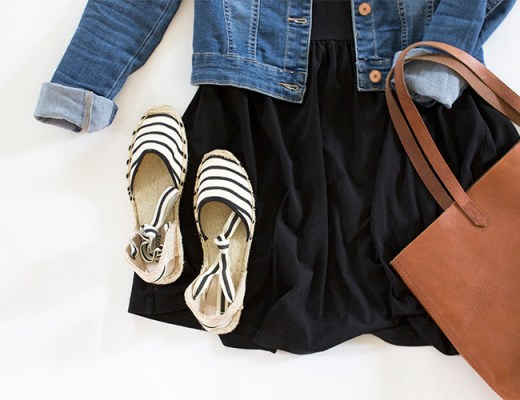Striped Espadrille Sandals : Two Ways