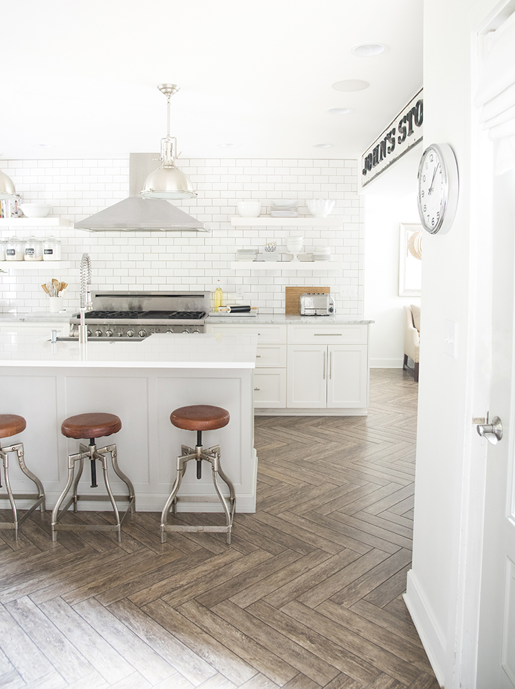 A Bright White Family Friendly Kitchen