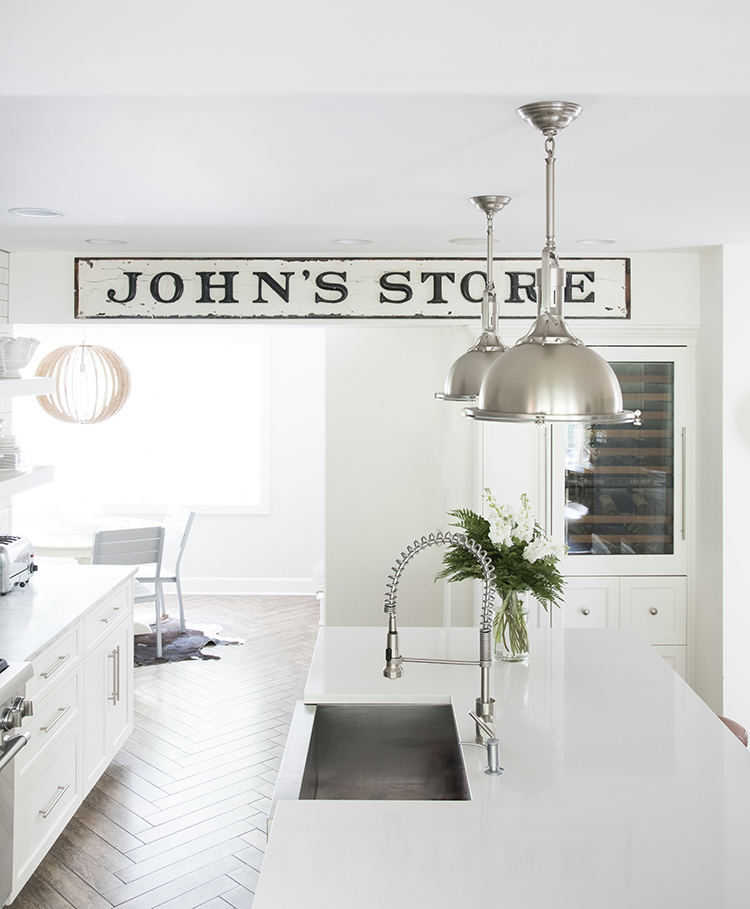 Vintage Sign in Kitchen