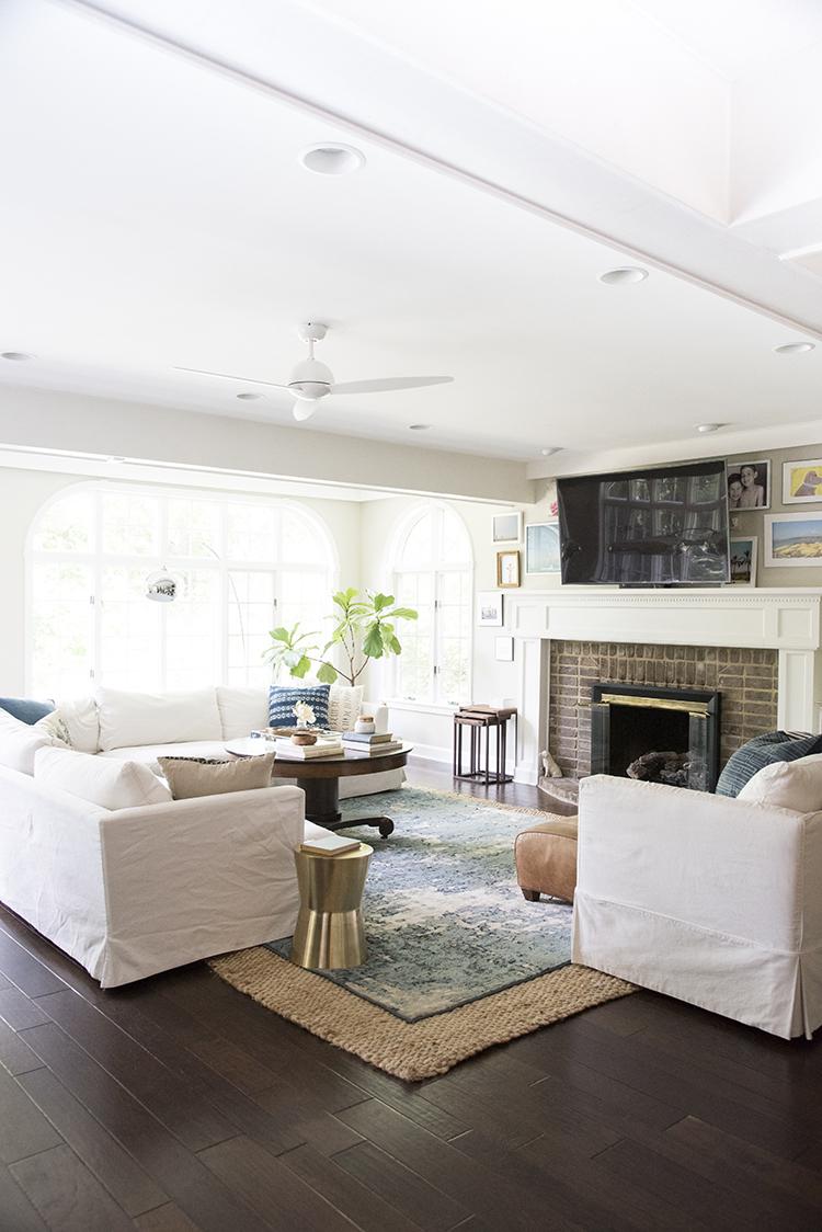 A Bright Boho Living Room Tour - Room for Tuesday