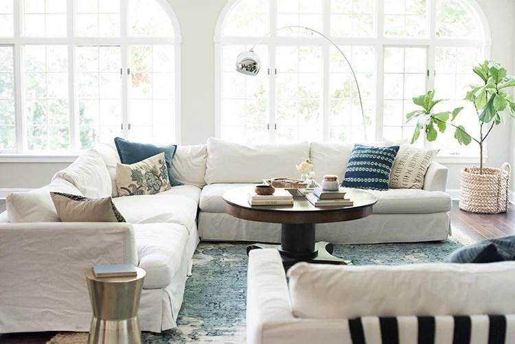 A Bright Boho Living Room Tour