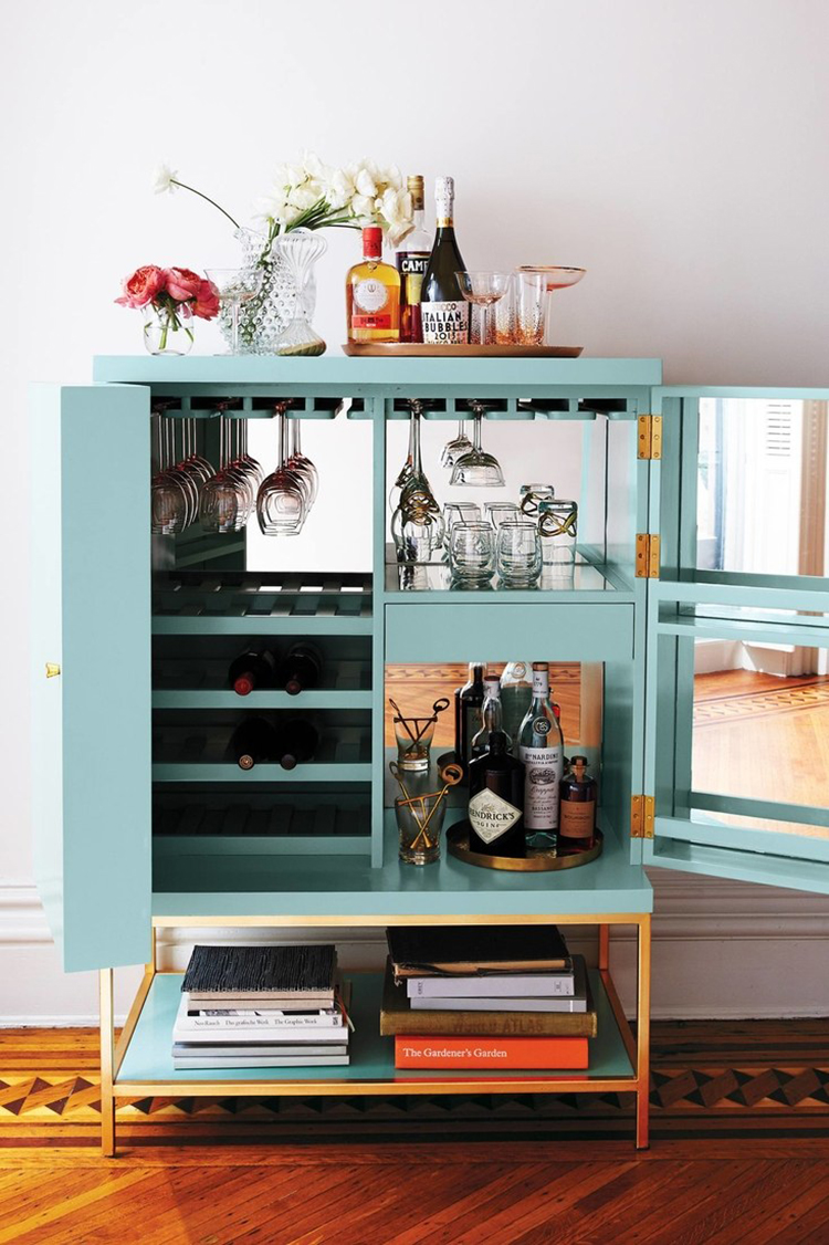 28 Stylish Bar Cabinets Perfect for Entertaining - Room for Tuesday