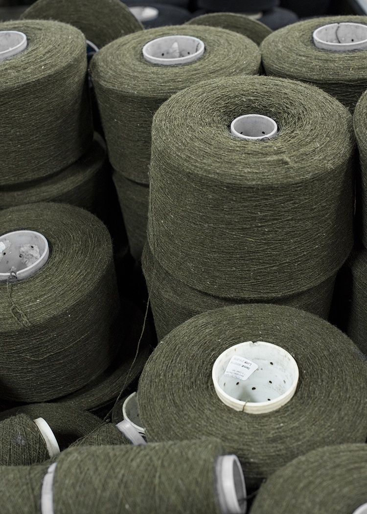 Army Green Spools of Wool