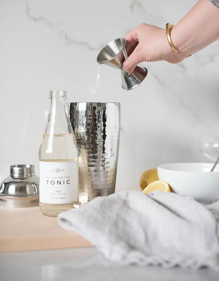 Lemon & Gin Cocktails