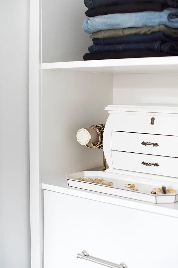 Jewelry System in Closet