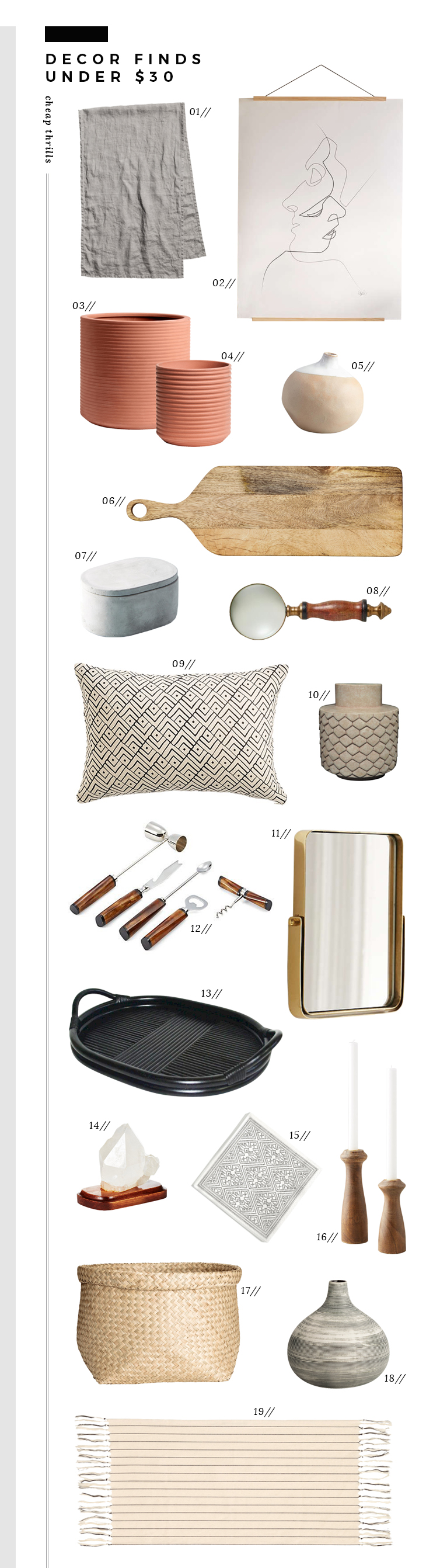 Cheap Thrills - Decor Under $30