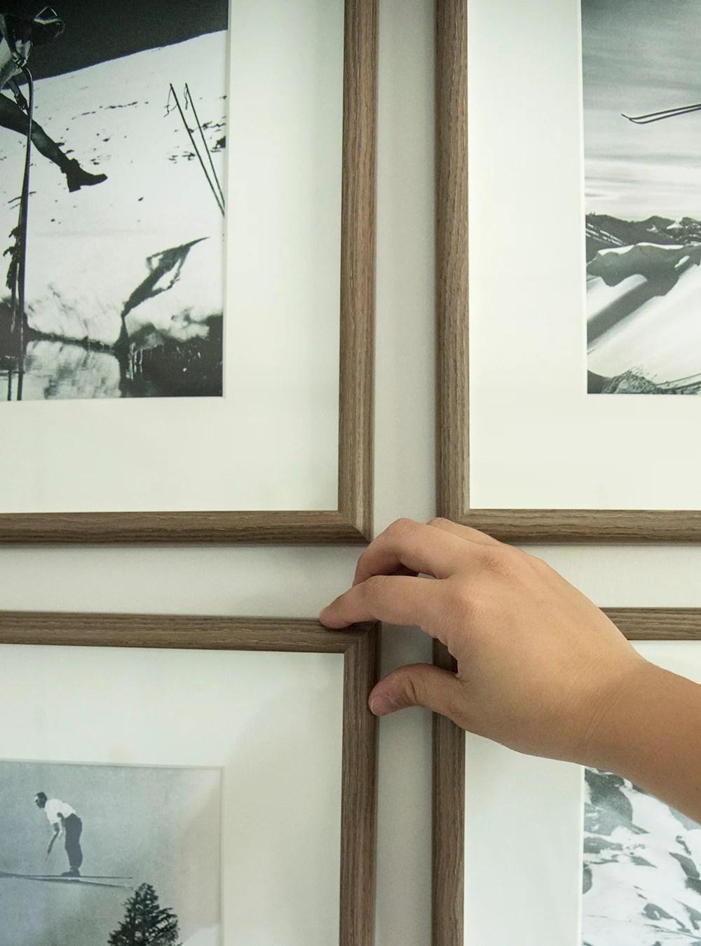 Straighten Grid Gallery Wall