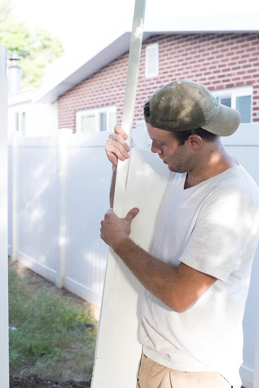 Assembling a Vinyl Fence