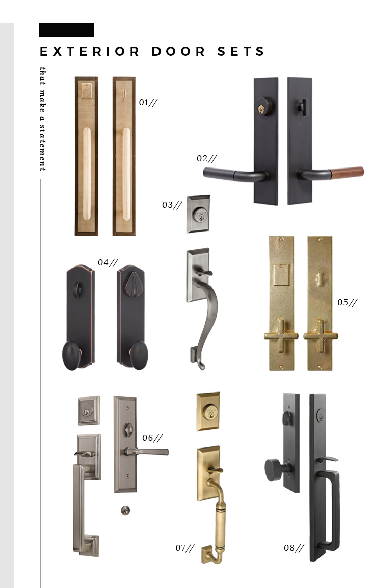 Statement Interior and Exterior Door Knobs - Room for Tuesday Blog