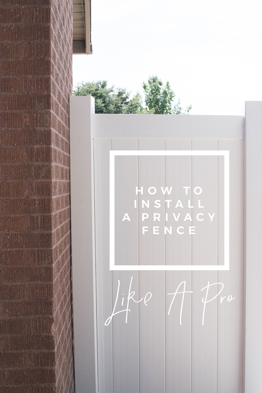 How to Install a Privacy Fence