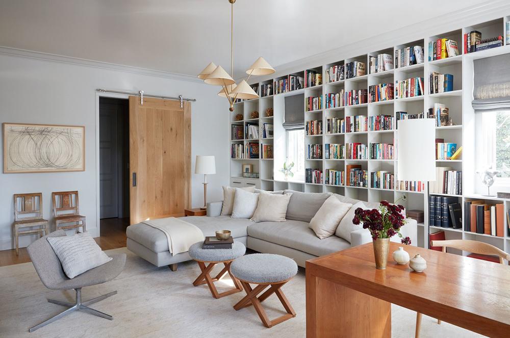 Whitewashed Mod Farmhouse Family Room