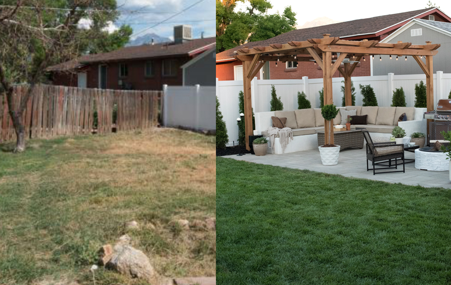 Backyard Before & After - Room For Tuesday