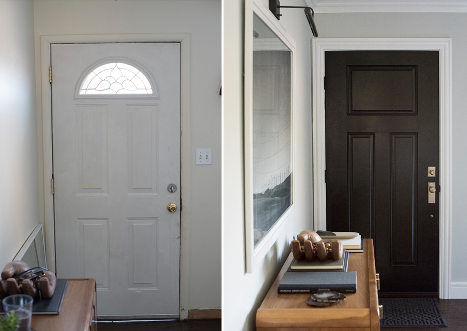 Inside Entrance before and after