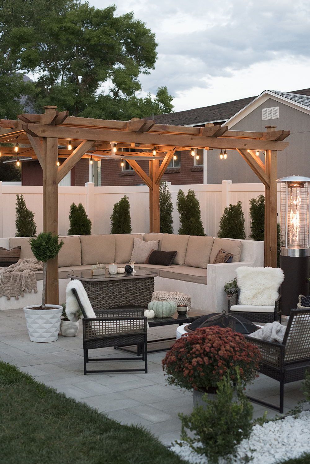 Outdoor Patio for Fall