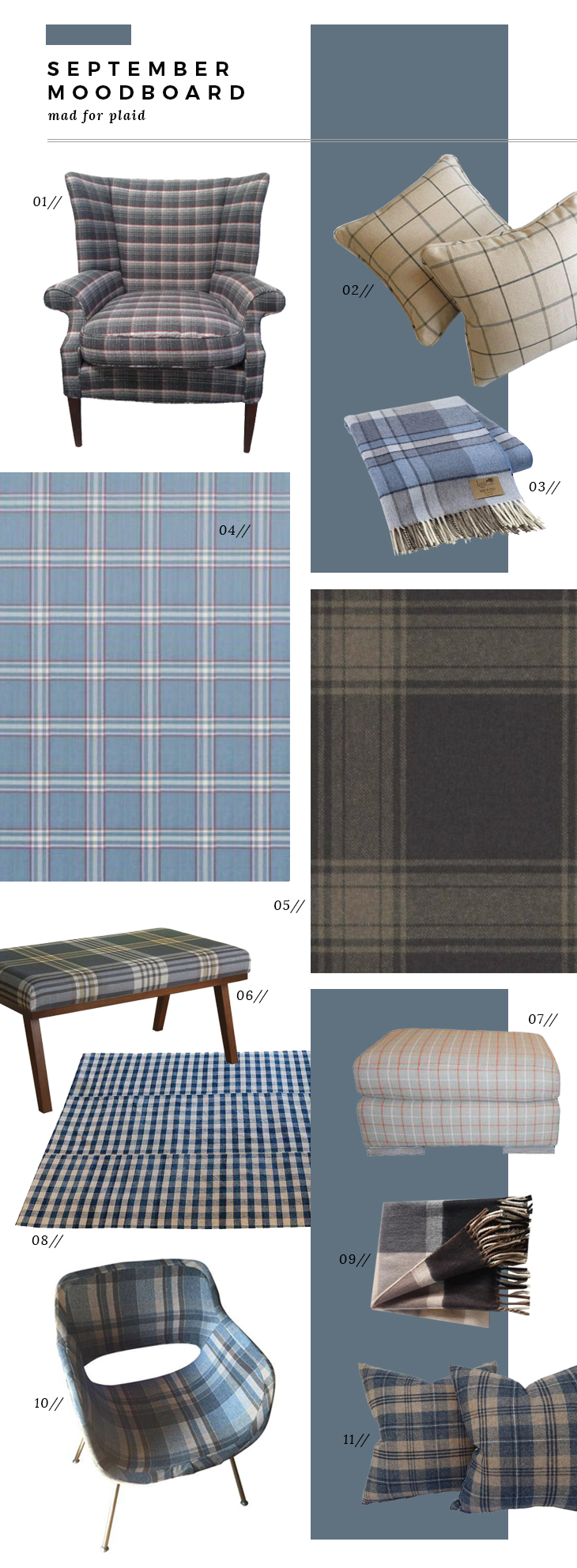 September Moodboard - Plaid