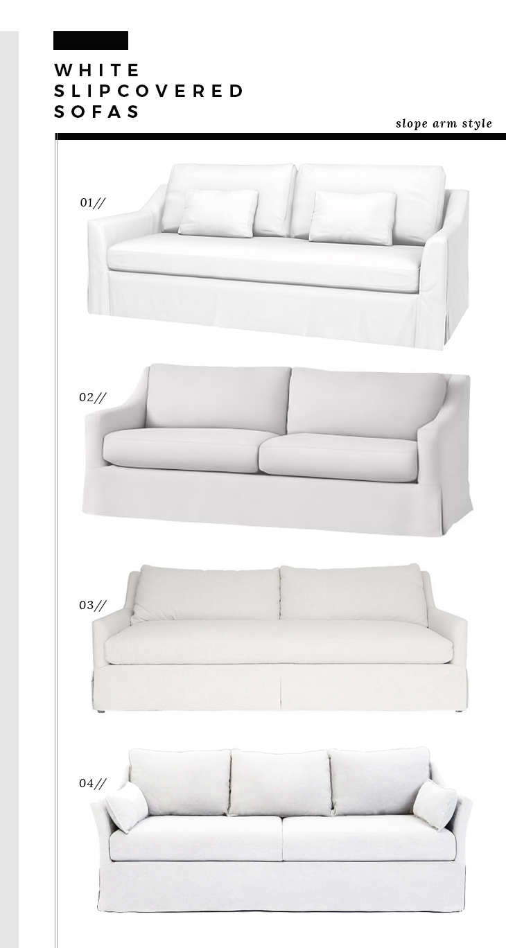 Slope Arm Slipcover Sofas