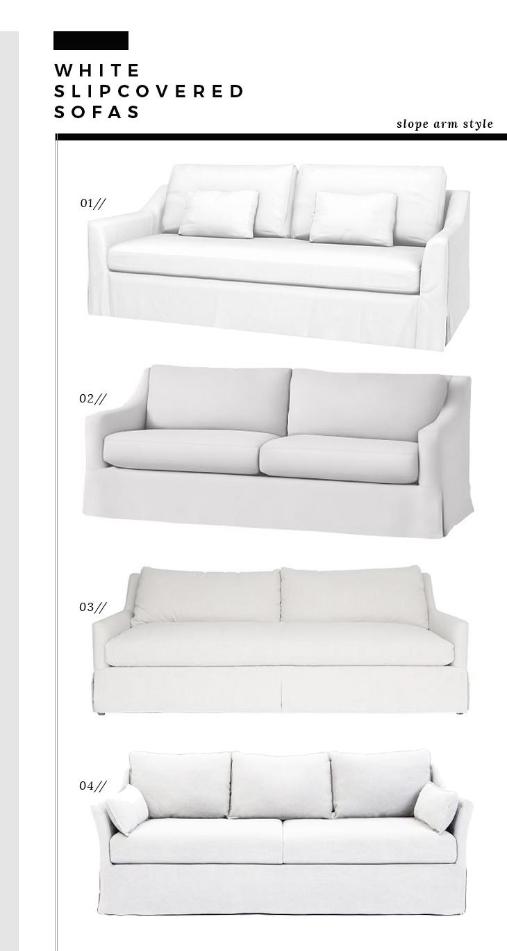 Slope Arm Slipcover Sofas