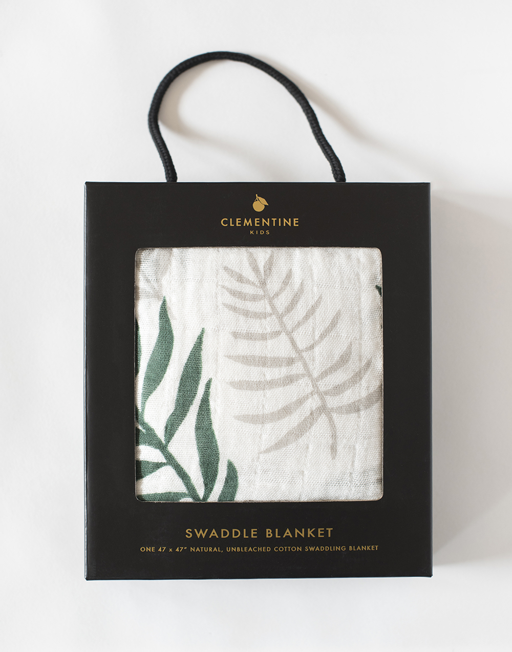 Palm Leaf Swaddle Blanket