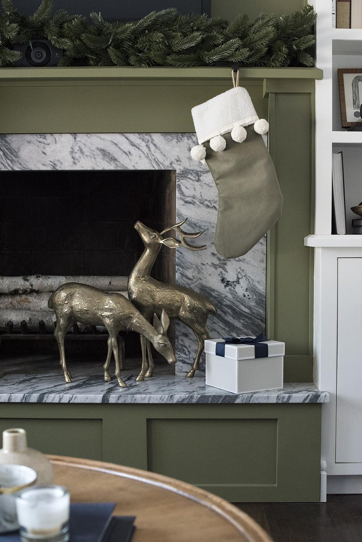 Brass Deer Holiday Decor