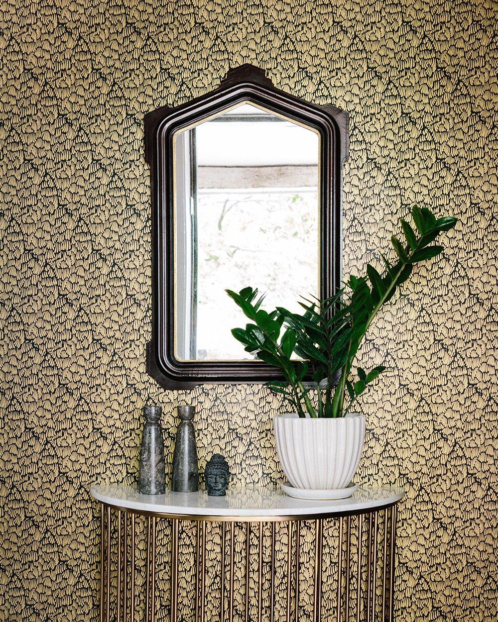 Blue Opuntia Cactus Cacti Removable Wallpaper Cactus decor