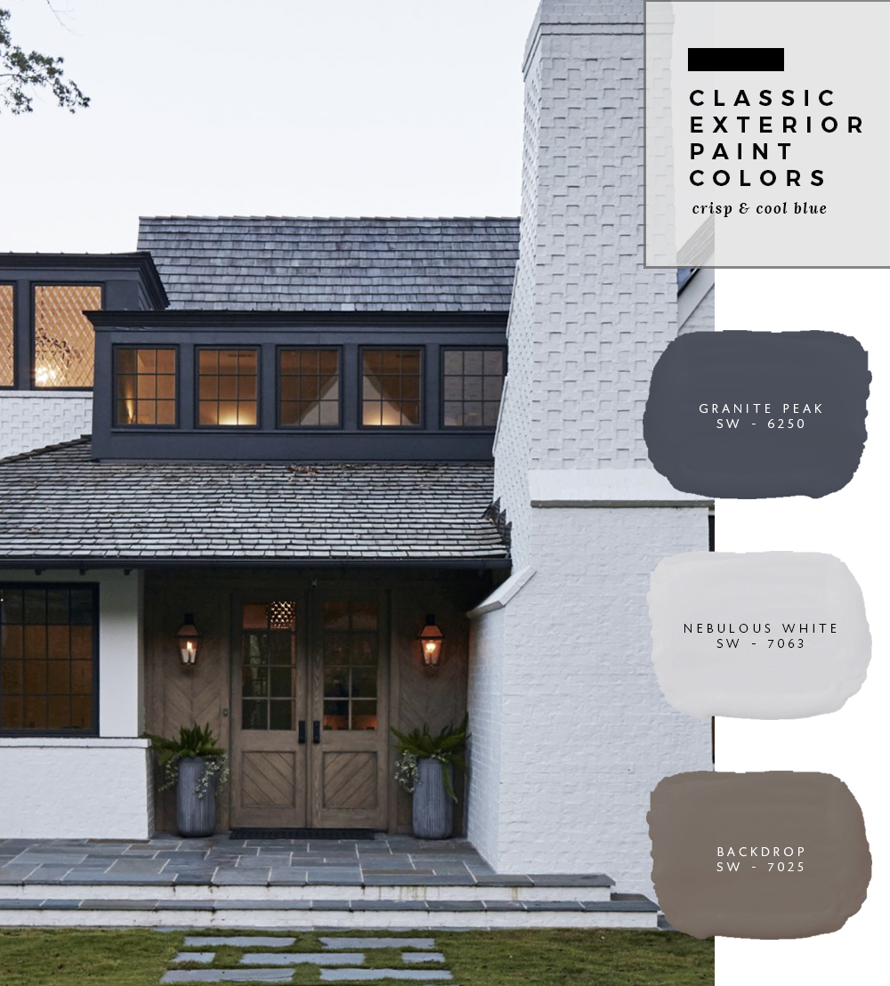 Classic Exterior Paint Color Combinations   Roomfortuesday.com