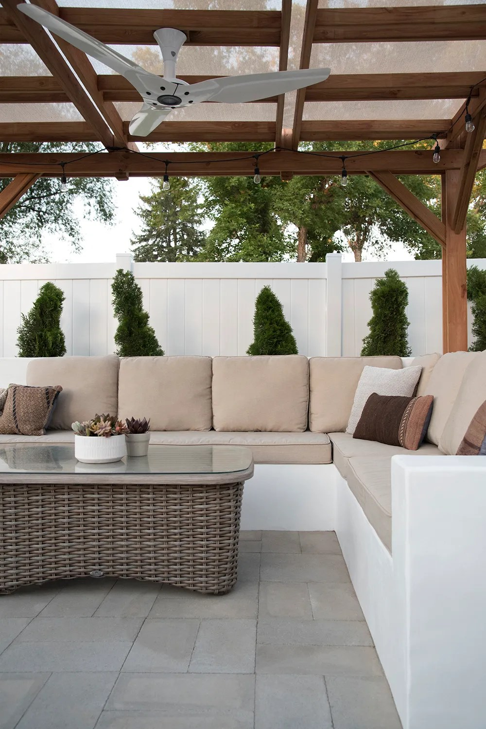 Concrete Outdoor Sofa Update - Room for Tuesday