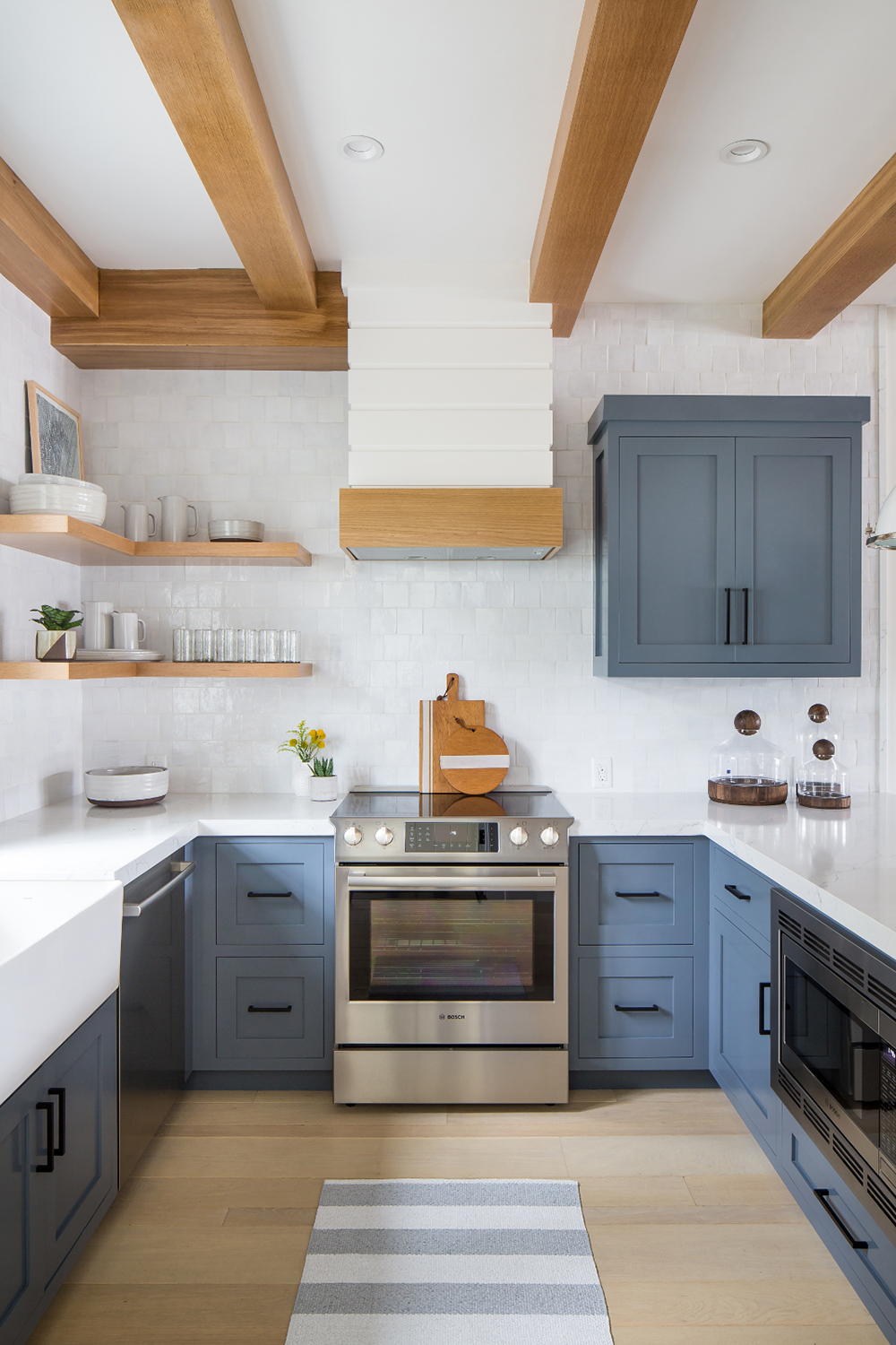 Beautiful Blue Beach House Kitchen - Room For Tuesday