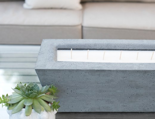Oversized Concrete Candle DIY