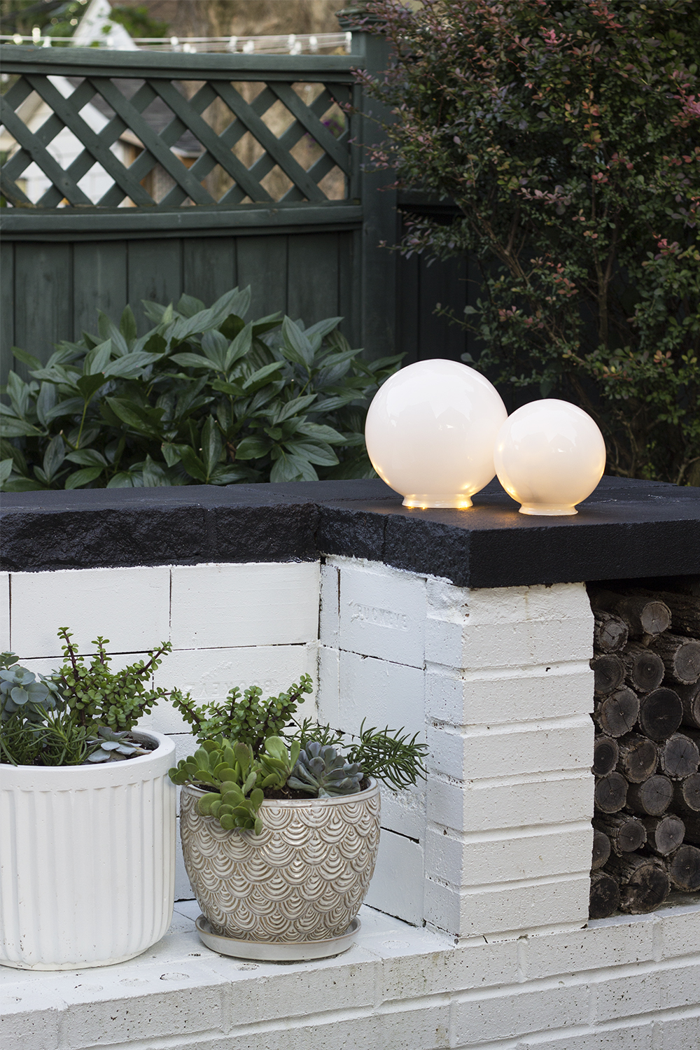 diy outdoor globe lights