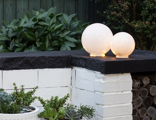 Easy DIY Outdoor Globe Lights - roomfortuesday.com