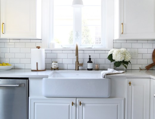 Classic White Kitchen Reveal - roomfortuesday.com