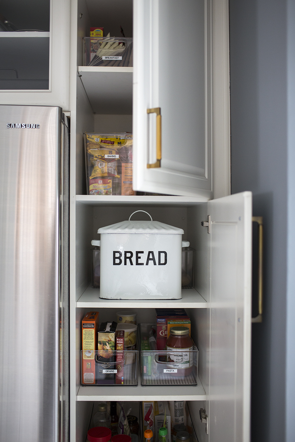 kitchen organization baskets and bins