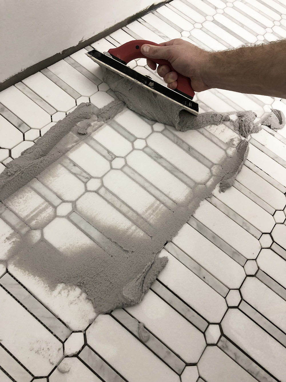 How to Install Mosaic Floor Tile + My Favorite Marble Mosaics - roomfortuesday.com