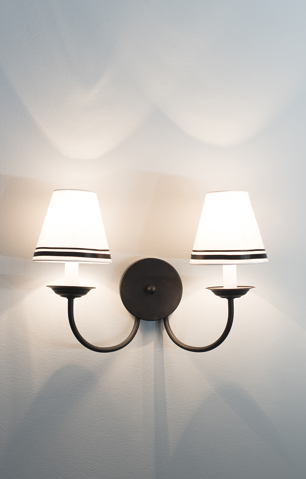 Double Sconce Easy Shade Upgrade - roomfortuesday.com