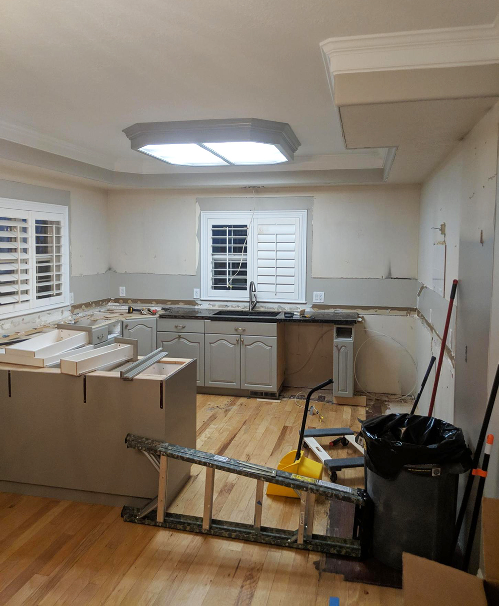 Kitchen Demo + A New Handy Tool - roomfortuesday.com