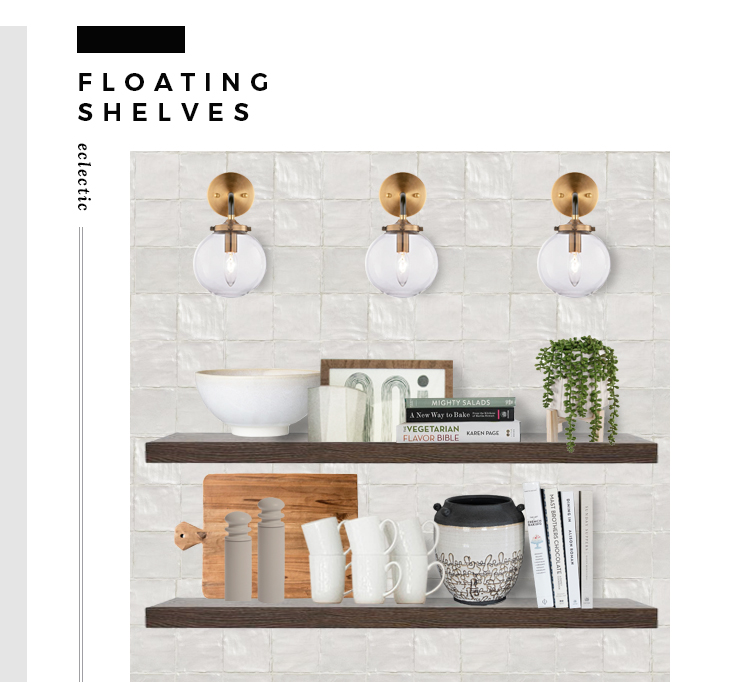 How to Incorporate Floating Shelves to Your Kitchen - roomfortuesday.com