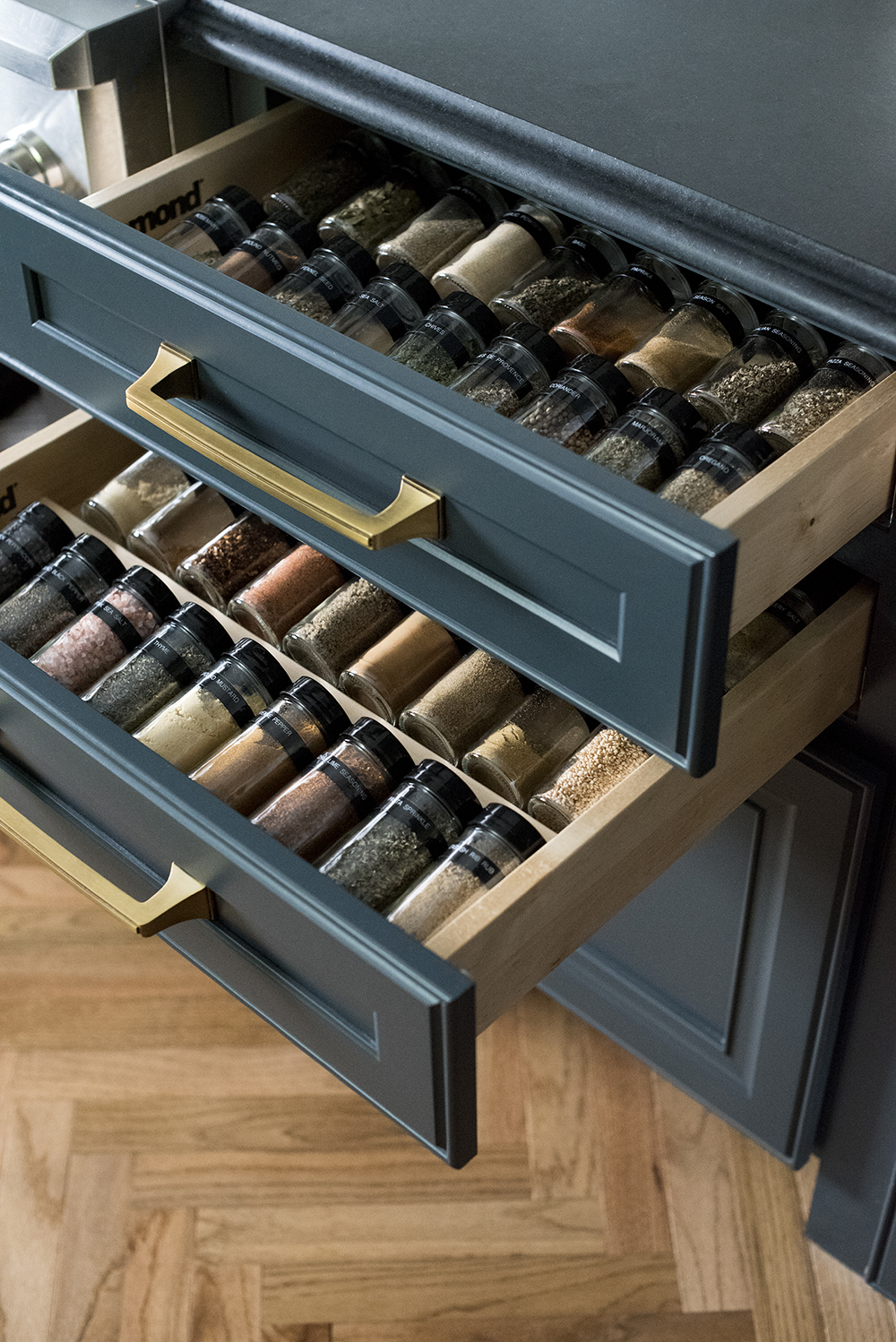 Spice Rack Organization DIY - roomfortuesday.com