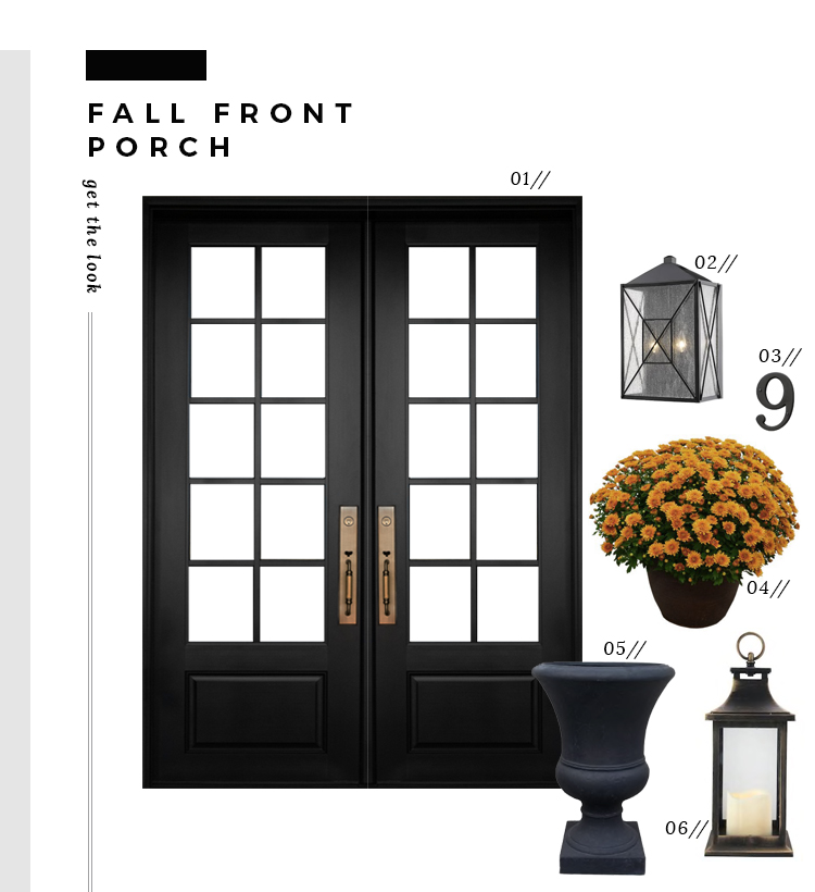 Replacing the Front Door & Fall Front Porch - roomfortuesday.com