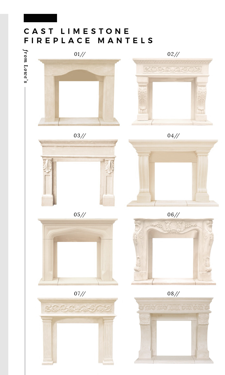 Fireplace Makeover + Cast Mantel Options - roomfortuesday.com