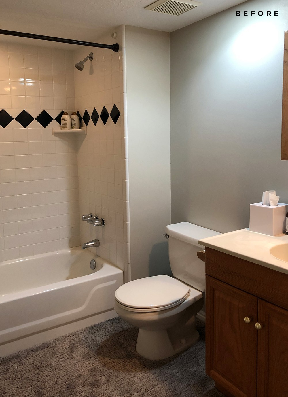 Basement Bathroom : Renovation Update - roomfortuesday.com