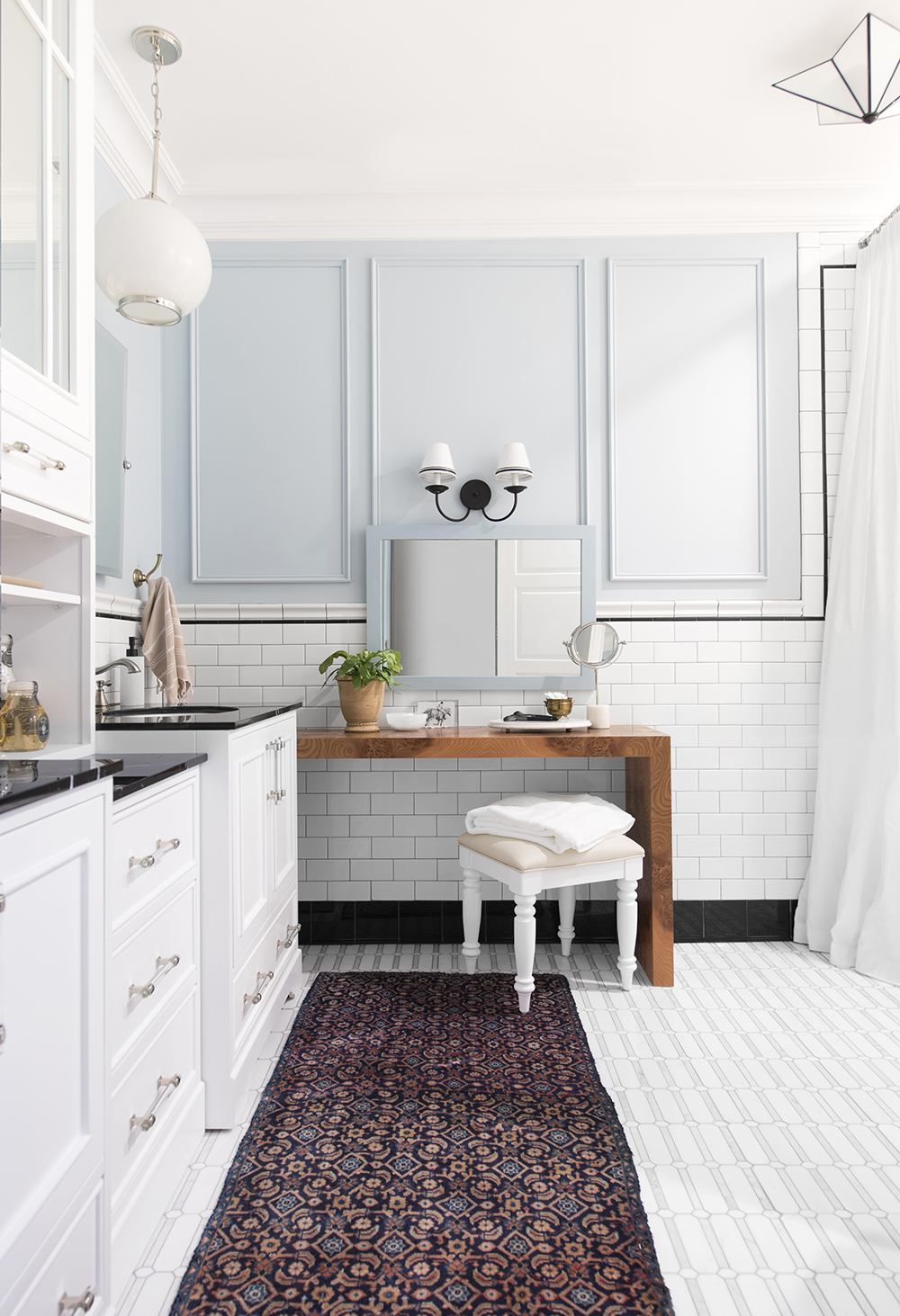 Design Discussion : Wool Rugs in the Bathroom - roomfortuesday.com