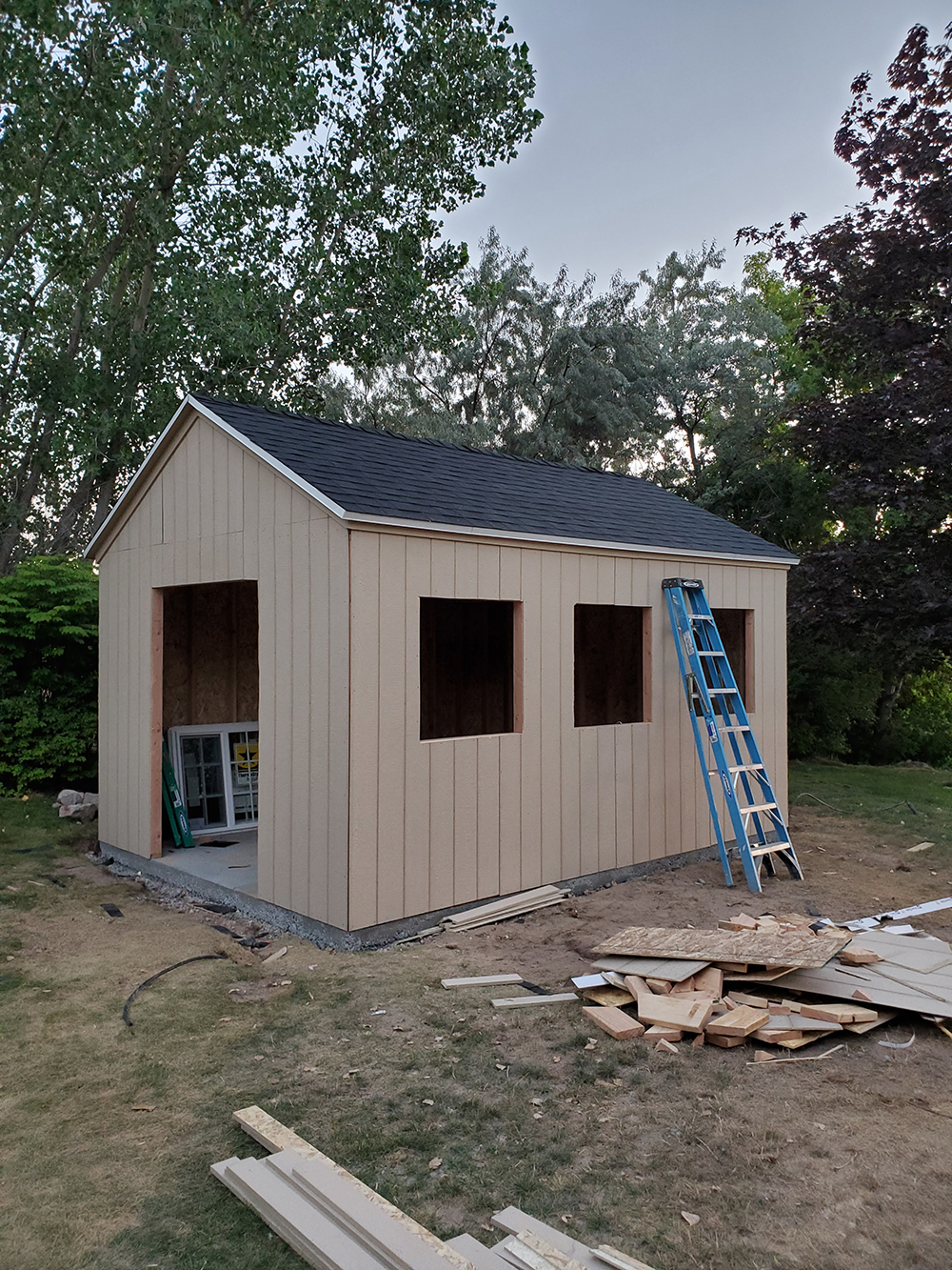 Our Shed Build, Supply List, and Budget - roomfortuesday.com