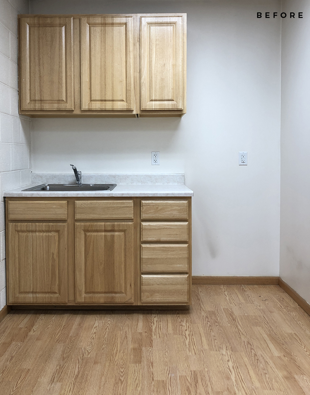 Office Kitchenette Makeover - roomfortuesday.com