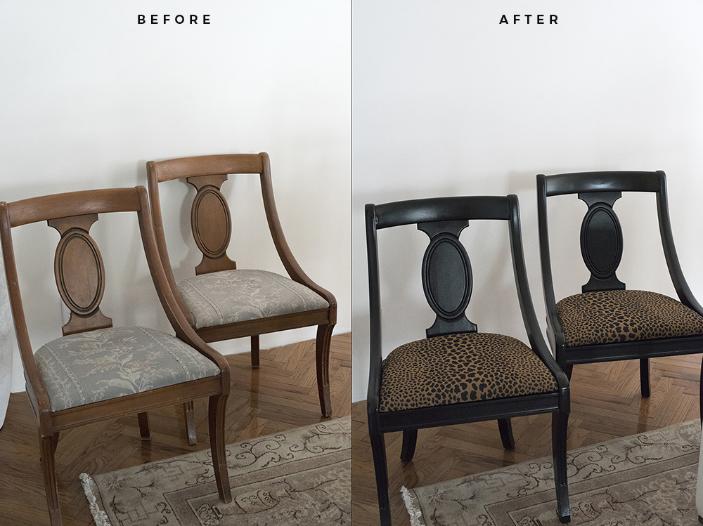 My Animal Print Chairs - A Quick Makeover : roomfortuesday.com